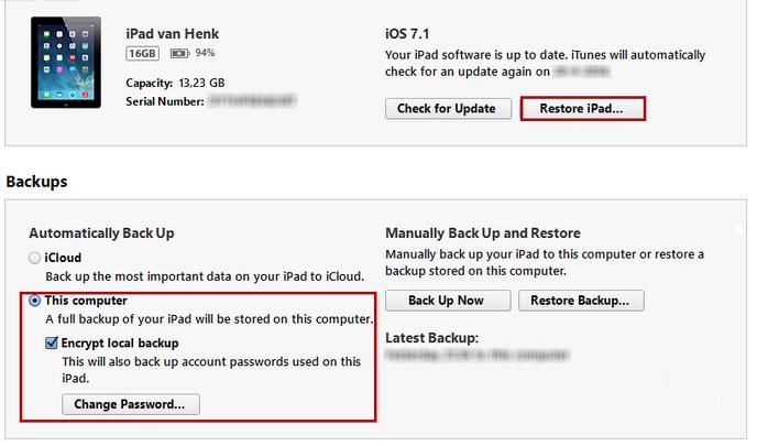 restore ipad 3